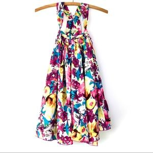 6Y Eliane et Lena Floral Tank Dress
